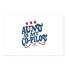 Aunt is My Co-Pilot Postcards (Package of 8)