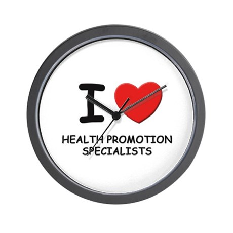 I love health promotion specialists Wall Clock