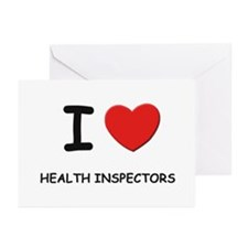 I love health inspectors Greeting Cards (Package o