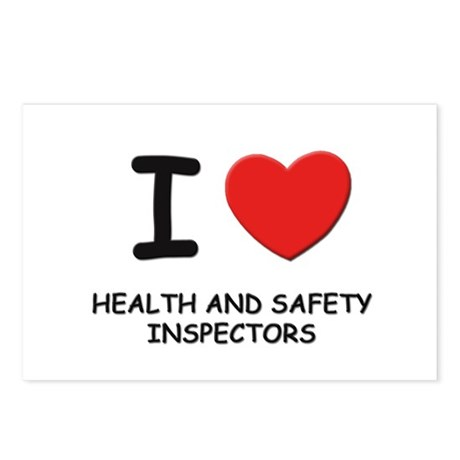 I love health and safety inspectors Postcards (Pac