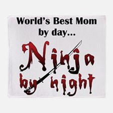 World's Best Mom Ninja Throw Blanket