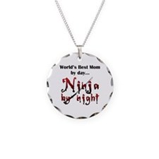 World's Best Mom Ninja Necklace