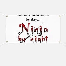 World's Best Mom Ninja Banner