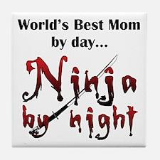World's Best Mom Ninja Tile Coaster