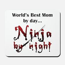 World's Best Mom Ninja Mousepad