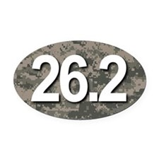 Super Unique 26.2 (camo version) Oval Car Magnet