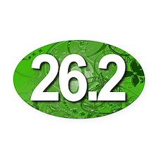 Super Unique 26.2 (green version) Oval Car Magnet