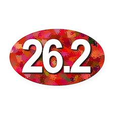 Super Unique 26.2 (red version) Oval Car Magnet