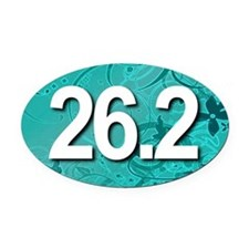 Super Unique 26.2 (teal version) Oval Car Magnet