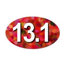 Super Unique 13.1 (red version) Oval Car Magnet