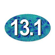 Super Unique 13.1 (pop art blue) Oval Car Magnet