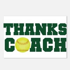 Thanks Softball Coach Postcards (Package of 8)