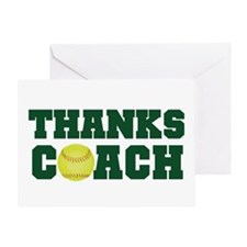 Thanks Softball Coach Greeting Card