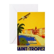 Saint-Tropez, Travel, Vintage Poster Greeting Card