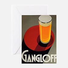 Gangloff, Beer, Vintage Poster Greeting Card