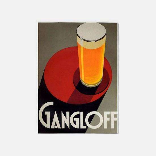 Gangloff, Beer, Vintage Poster 5'x7'Area Rug