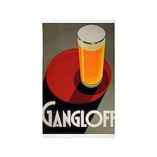 Gangloff, Beer, Vintage Poster 3'x5' Area Rug