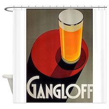 Gangloff, Beer, Vintage Poster Shower Curtain