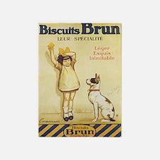 Biscuits Brun, Cookie, Dog, Vintage Poster 5'x7'Ar