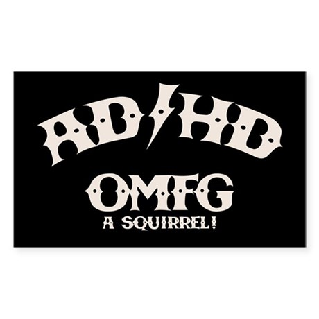 AD/HD OMFG Sticker (Rectangle)