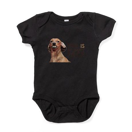 Happy Face Dachshund Baby Bodysuit