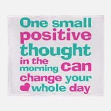 Positive Thought Throw Blanket