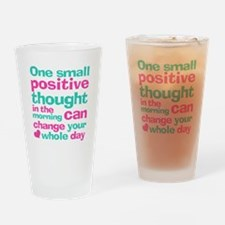 Positive Thought Drinking Glass