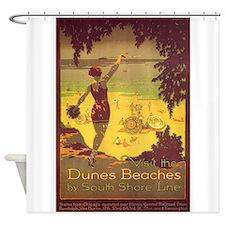 Dunes Beaches, Chicago, Beach, Vintage Poster Show
