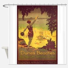 Dunes Beaches, Chicago, Beach, Vintage Poster Show