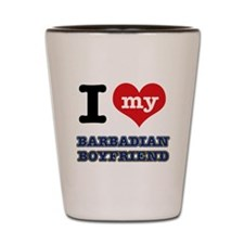 I love my Barbadian Boyfriend Shot Glass