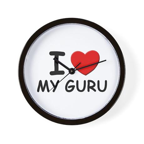 I love gurus Wall Clock
