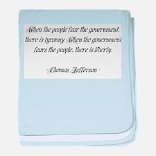 Thomas Jefferson Quote baby blanket