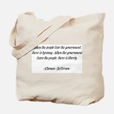 Thomas Jefferson Quote Tote Bag