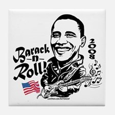 First Barack And Roll Tile Coaster
