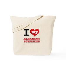 I love my Albanian Boyfriend Tote Bag