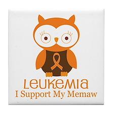 Memaw Leukemia Support Tile Coaster