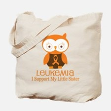 Little Sister Leukemia Support Tote Bag