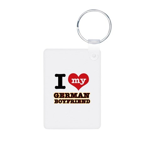 I love my German Boyfriend Aluminum Photo Keychain