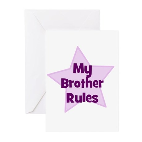 My Brother Rules Greeting Cards (Pk of 10)