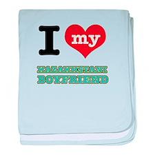 I love my Kazakhstani Boyfriend baby blanket