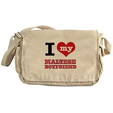I love my Maltese Boyfriend Messenger Bag