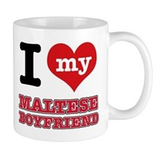 I love my Maltese Boyfriend Small Mugs