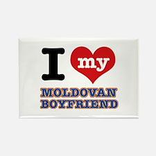 I love my Moldovan Boyfriend Rectangle Magnet