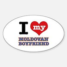 I love my Moldovan Boyfriend Sticker (Oval)