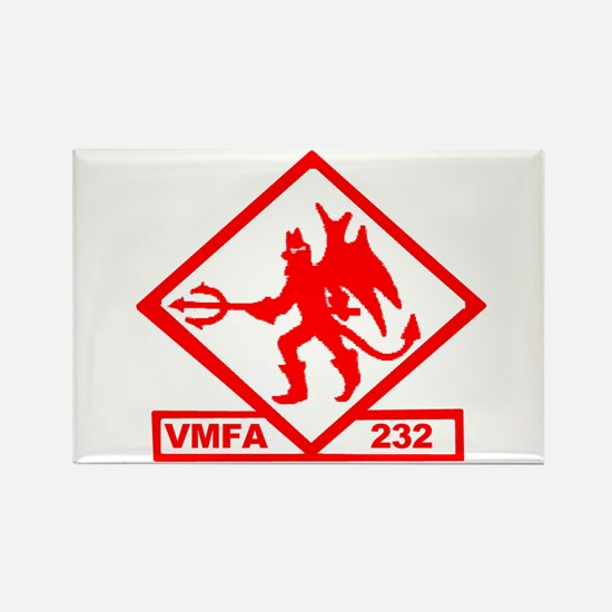 VMFA 232 Red Devils Rectangle Magnet