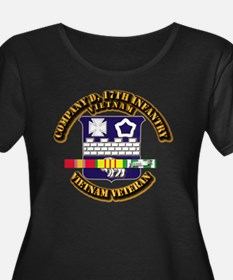 1st Battalion, 18th Infantry w SVC Ribbons T