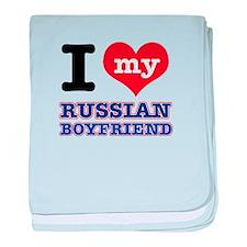I love my Russian Boyfriend baby blanket