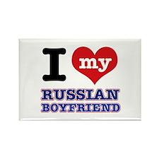 I love my Russian Boyfriend Rectangle Magnet