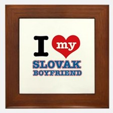 I love my Slovak Boyfriend Framed Tile
