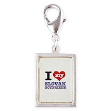 I love my Slovak Boyfriend Silver Portrait Charm